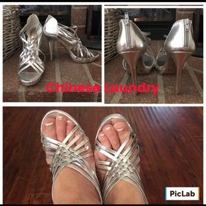 Chinese Laundry Shoes - Chinese Laundry Silver Heels
